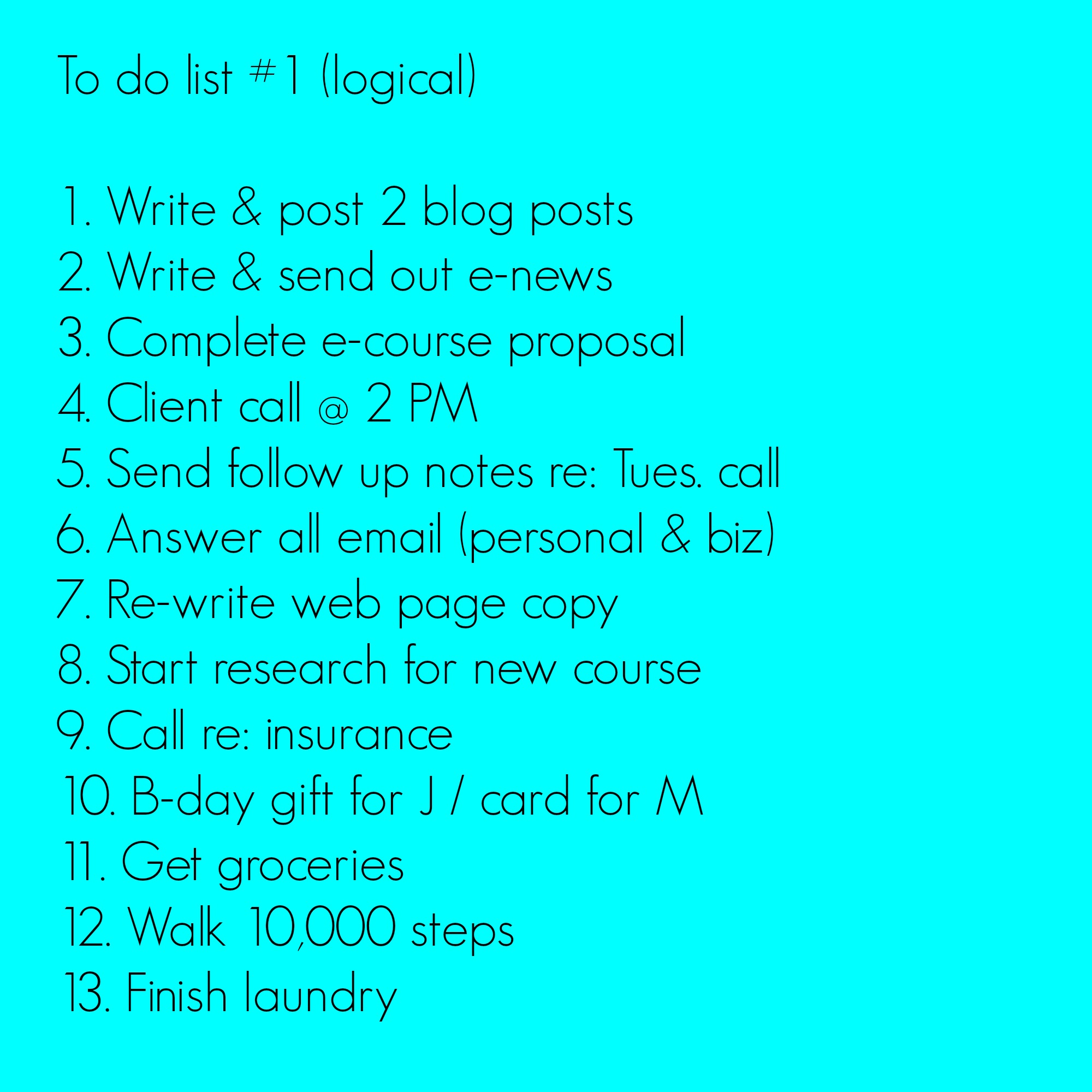 how to make list
